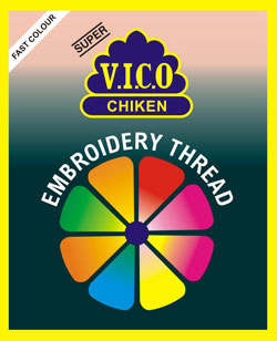 vico chiken embroidery thread india